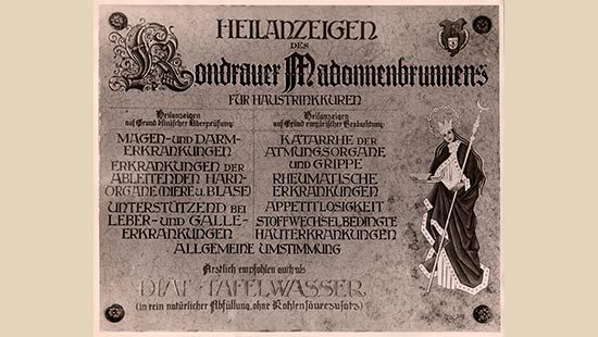 Heilanzeige Madonnenbrunnen | Kondrauer Mineral- und Heilbrunnen