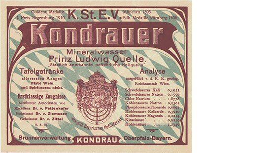 Tonkrugetikett | Kondrauer Mineral- und Heilbrunnen