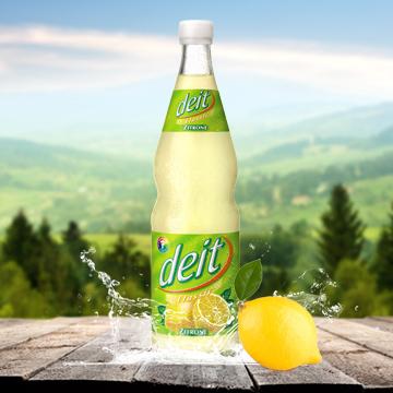 Kondrauer Deit Zitrone Glas   Kondrauer Mineral- und Heilbrunnen