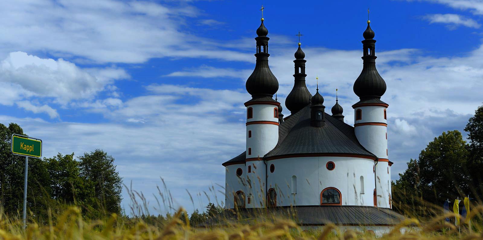 Außenansicht Kapelle Waldsassen in Bayern | Kondrauer Mineral- und Heilbrunnen