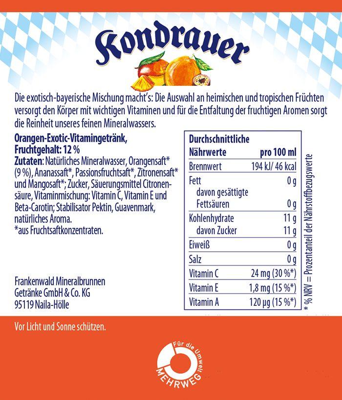 ACE Tropic Limonade Kondrauer Etikett |