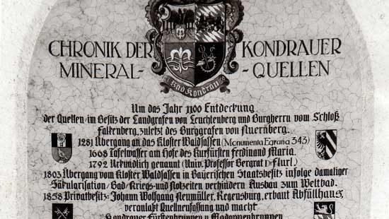 Historie 01 | Kondrauer Mineral- und Heilbrunnen