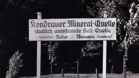 Historie 02 | Kondrauer Mineral- und Heilbrunnen