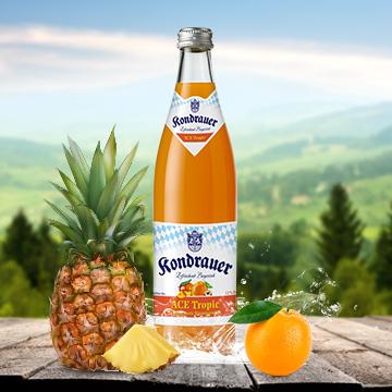 Flasche Limonade ACE Tropic | Kondrauer Mineral- und Heilbrunnen