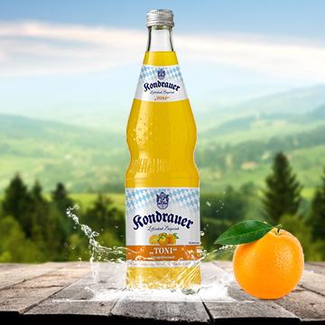 Flasche Limonade Orange TONI | Kondrauer Mineral- und Heilbrunnen