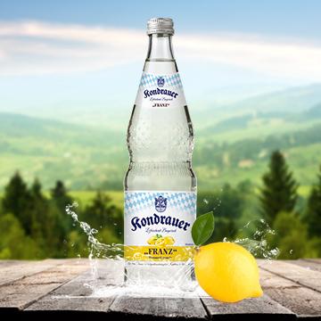 Flasche Limonade Zitrone FRANZ | Kondrauer Mineral- und Heilbrunnen
