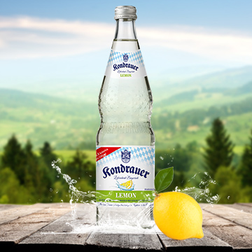 Flasche Mineralwasser Lemon | Kondrauer Mineral- und Heilbrunnen