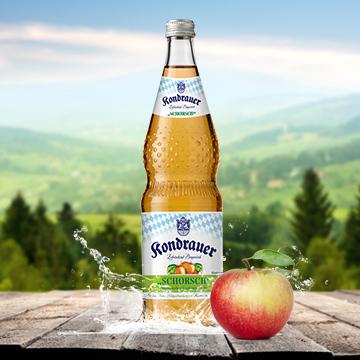 Flasche Apfelschorle SCHORSCH | Kondrauer Mineral- und Heilbrunnen