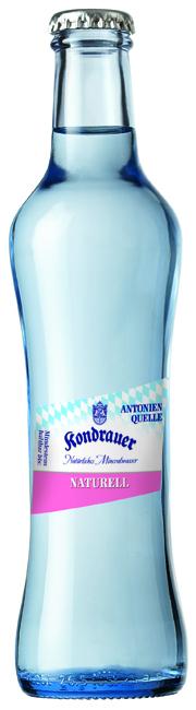"""Mineralwasser """"Naturell"""" 0,25 l Gourmet-Glasflasche"""