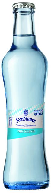 """Mineralwasser """"Prickelnd"""" 0,25 l Gourmet-Glasflasche"""