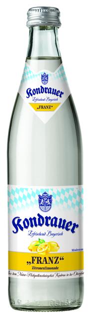 """Kondrauer ZITRONE """"FRANZ"""" 0,5 l NRW-Mehrwegflasche"""