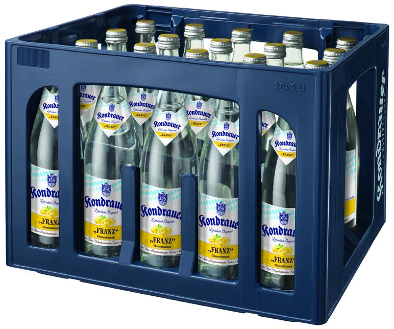 """Kondrauer ZITRONE """"FRANZ"""" 0,5 l NRW-Mehrwegflasche (Kasten)"""