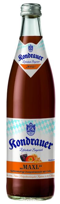 """Kondrauer COLA-MIX """"MAXL"""" 0,5 l NRW-Mehrwegflasche"""