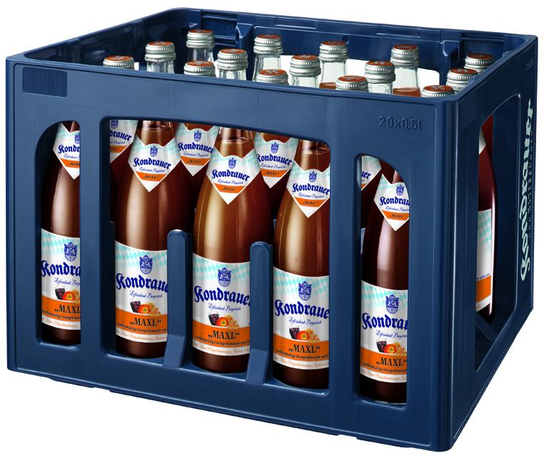 """Kondrauer COLA-MIX """"MAXL"""" 0,5 l NRW-Mehrwegflasche (Kasten)"""