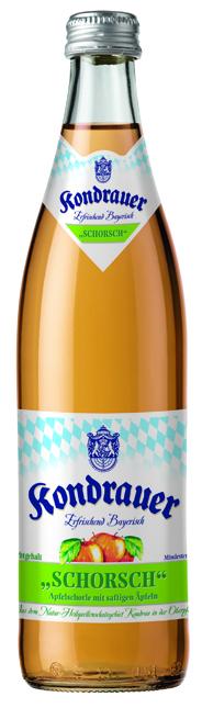 """Apfelschorle """"SCHORSCH"""" 0,5 l NRW-Mehrwegflasche"""