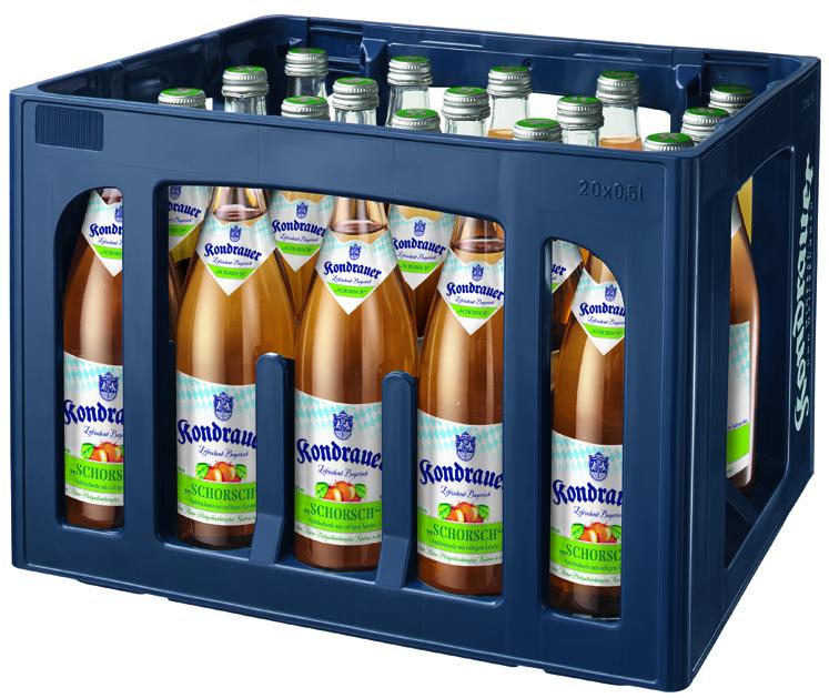 """Apfelschorle """"SCHORSCH"""" 0,5 l NRW-Mehrwegflasche (Kasten)"""