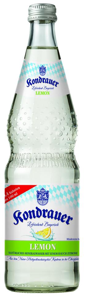 Mineralwasser LEMON 0,7 l Glas-Mehrwegflasche