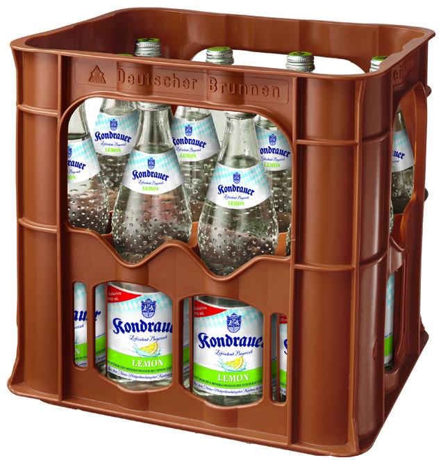Mineralwasser LEMON 0,7 l Glas-Mehrwegflasche (Kasten)