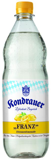 """Kondrauer ZITRONE """"FRANZ"""" 1,0 l PET-Mehrwegflasche"""