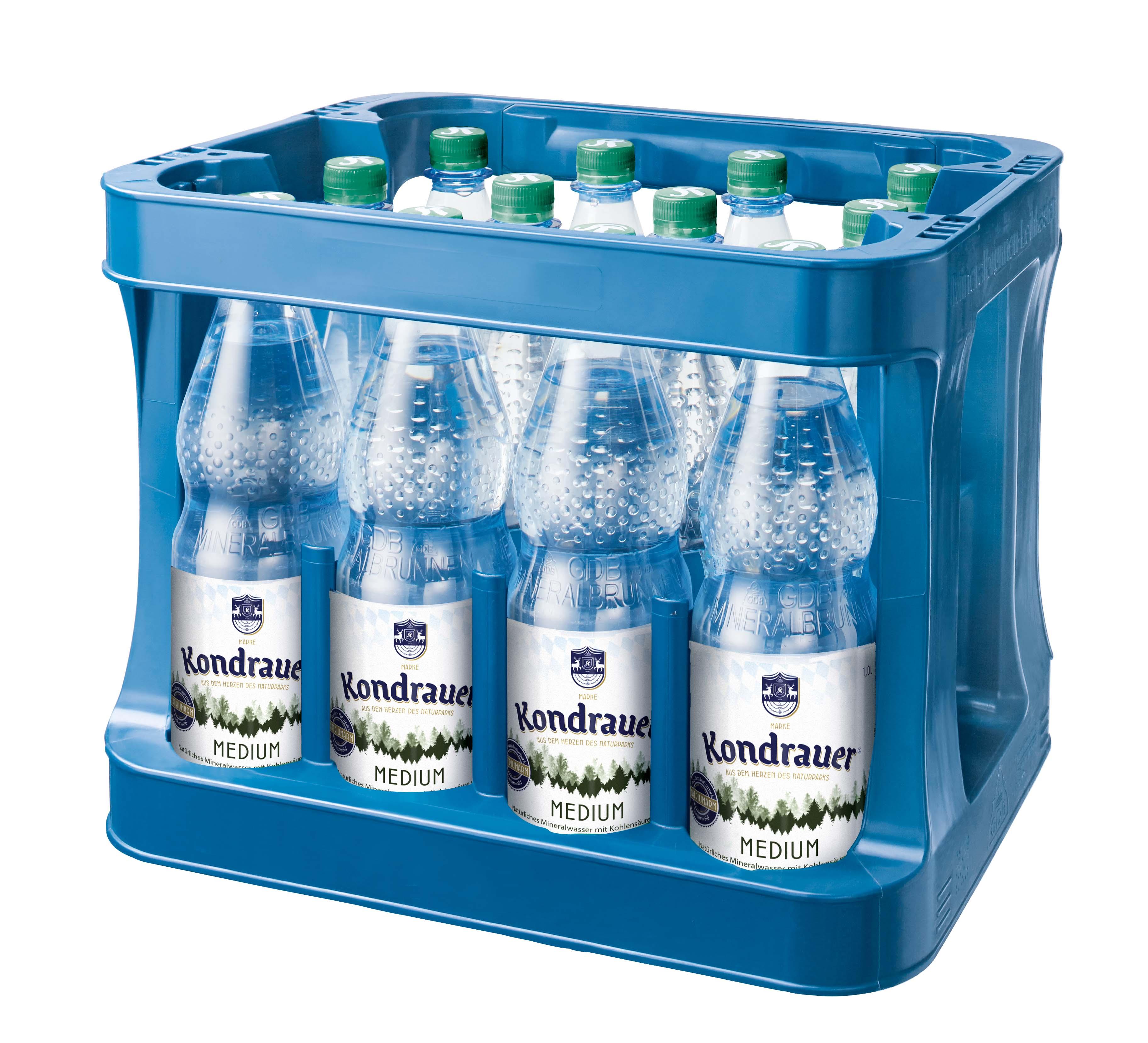 """Mineralwasser """"Medium"""" 1,0 l PET-Mehrwegflasche (Kasten)"""