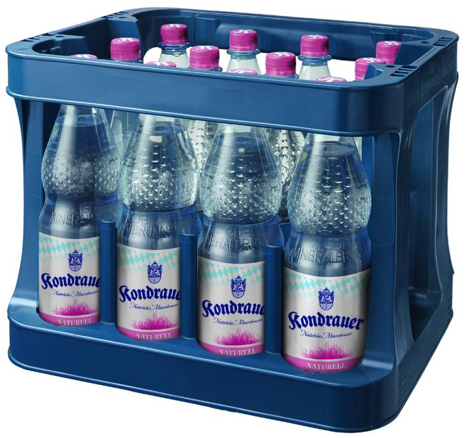 """Mineralwasser """"Naturell"""" 1,0 l PET-Mehrwegflasche (Kasten)"""