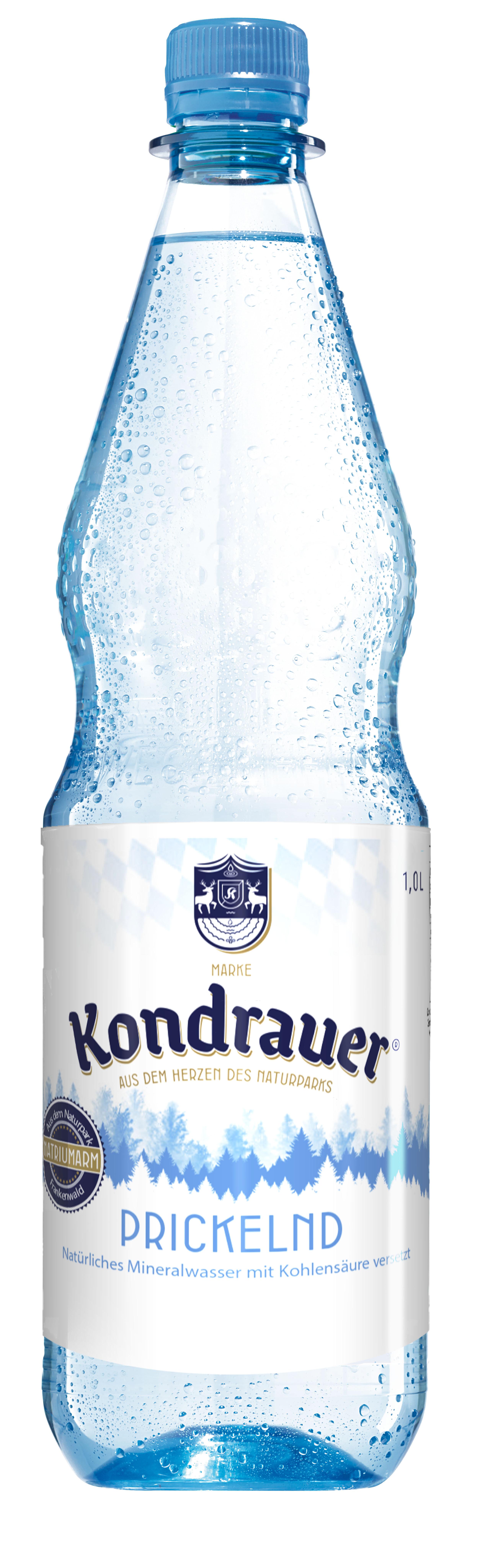 """Mineralwasser """"Prickelnd"""" 1,0 l PET-Mehrwegflasche"""