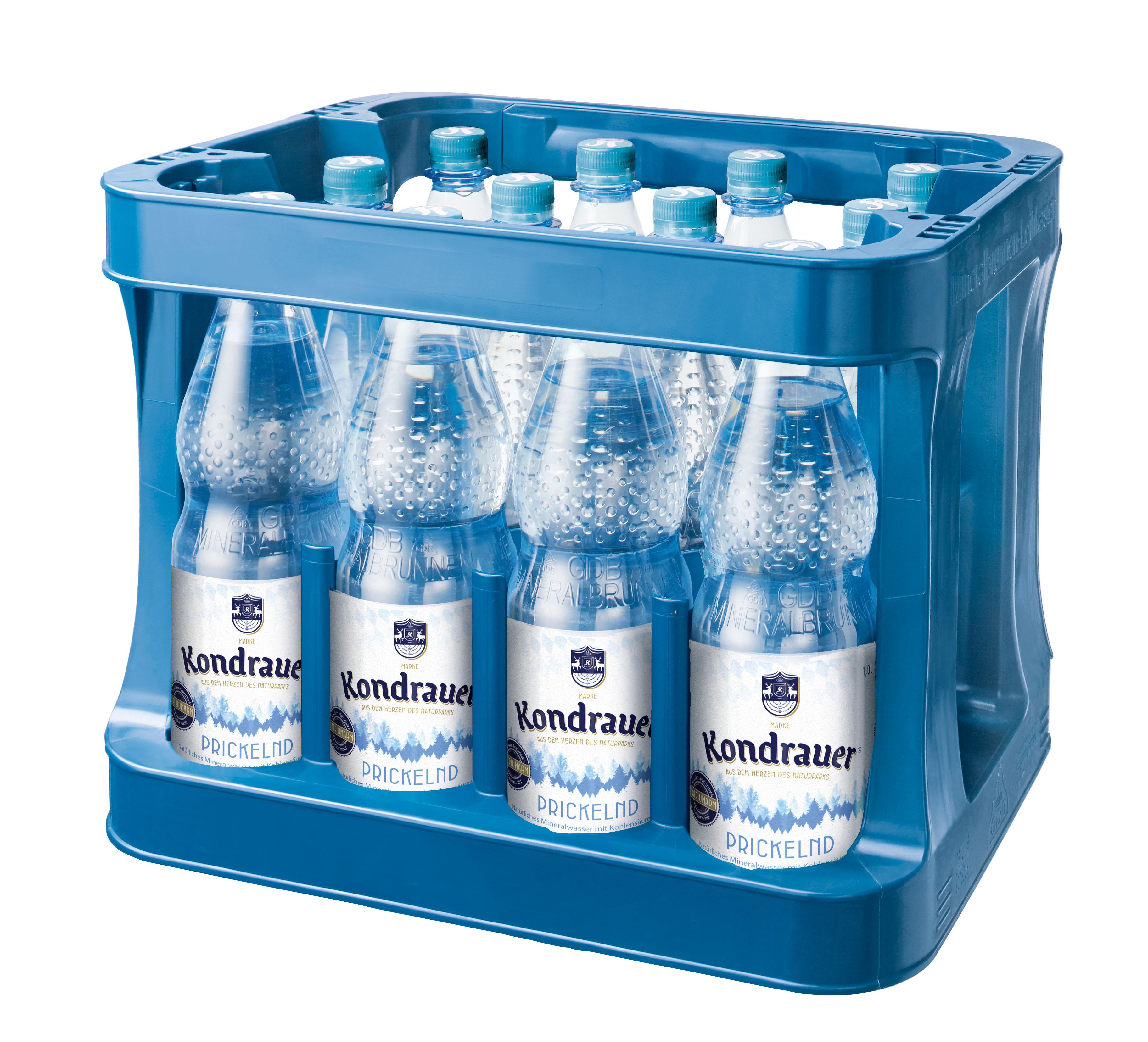 """Mineralwasser """"Prickelnd"""" 1,0 l PET-Mehrwegflasche (Kasten)"""