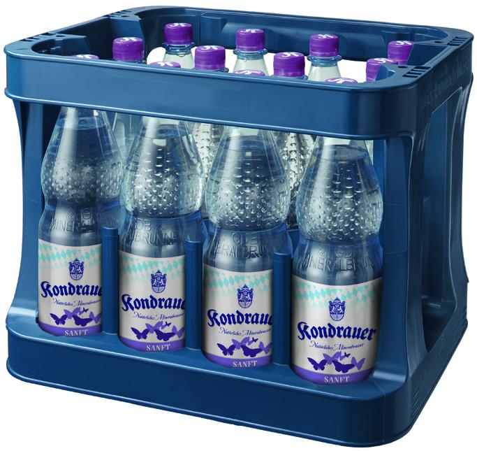 """Mineralwasser """"Sanft"""" 1,0 l PET-Mehrwegflasche (Kasten)"""