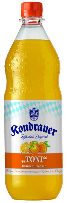 "Kondrauer ORANGE ""TONI"" 1,0 l PET-Mehrwegflasche"