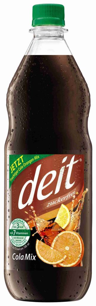 deit® COLA MIX CITRUS 1,0 l PET-Mehrwegflasche