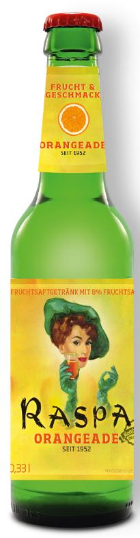 RASPA ORANGEADE 0,33 l Longneck-Mehrwegflasche
