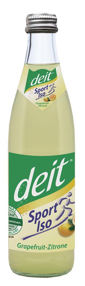 deit® Sport Iso Grapefruit-Zitrone 0,5 l NRW-Mehrwegflasche