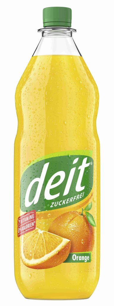 DEIT ORANGE 1,0 l PET-Mehrwegflasche