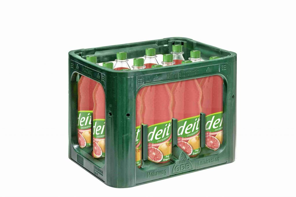 DEIT PINK GRAPEFRUIT 1,0 l PET (Kasten)
