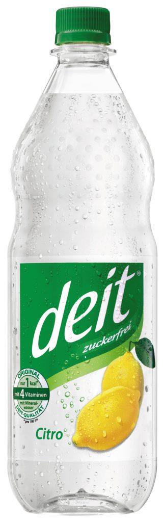 deit® CITRO 1,0 l PET-Mehrwegflasche