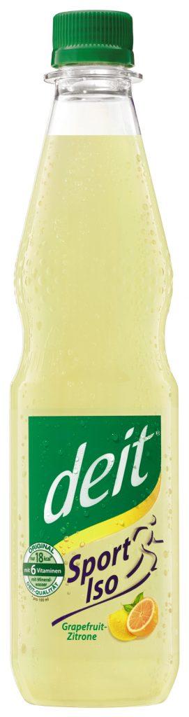 deit® Sport Iso Grapefruit-Zitrone 0,5 l PET-Mehrwegflasche