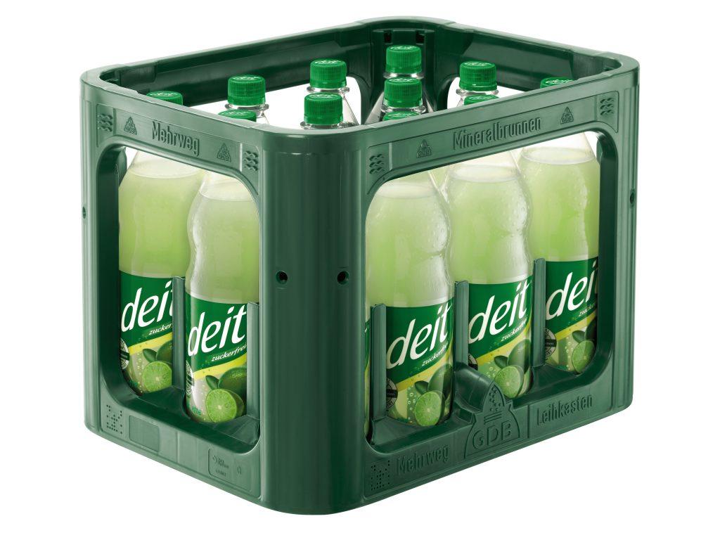 deit® LIMETTE 1,0 l PET-Mehrwegflasche (Kasten)