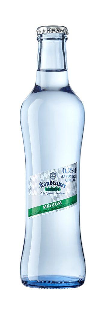 """Mineralwasser """"Medium"""" 0,25 l Gourmet-Glasflasche"""