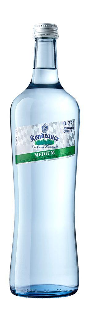 """Mineralwasser """"Medium"""" 0,75 l Gourmet-Glasflasche"""