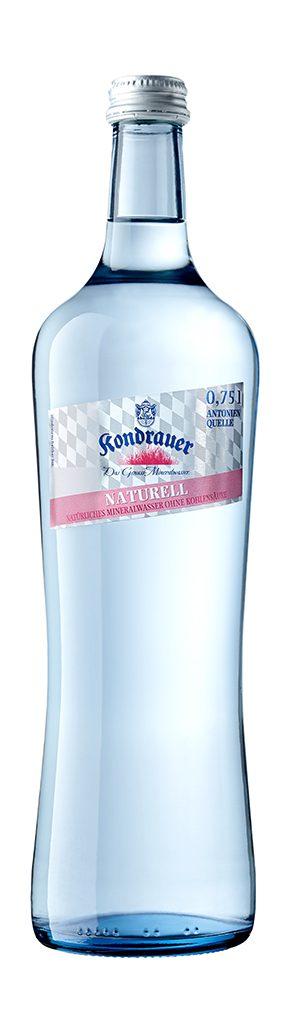 """Mineralwasser """"Naturell"""" 0,75 l Gourmet-Glasflasche"""