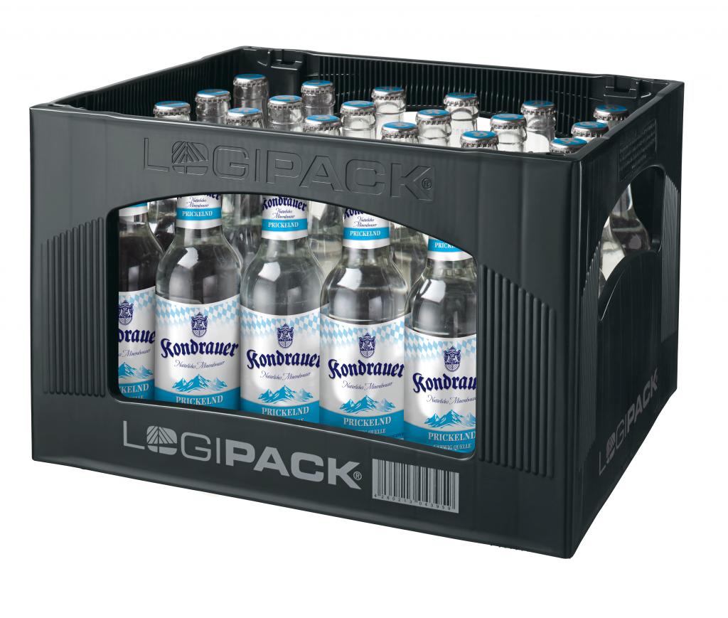 """Mineralwasser """"Prickelnd"""" 0,33 l Longneck-Mehrwegflasche (Kasten)"""