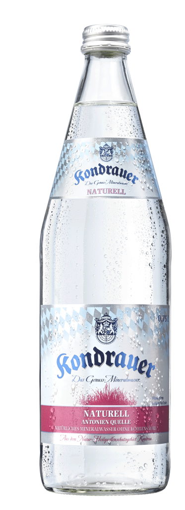 """Mineralwasser """"Naturell"""" 0,75 l Individualglas-Mehrwegflasche"""