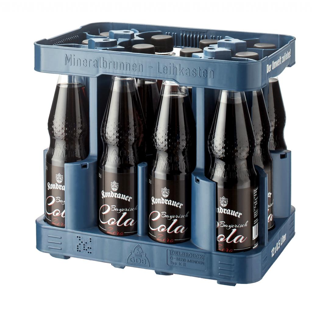 Kondrauer Bayerisch Cola Zero 0,5 l PET (Kasten)