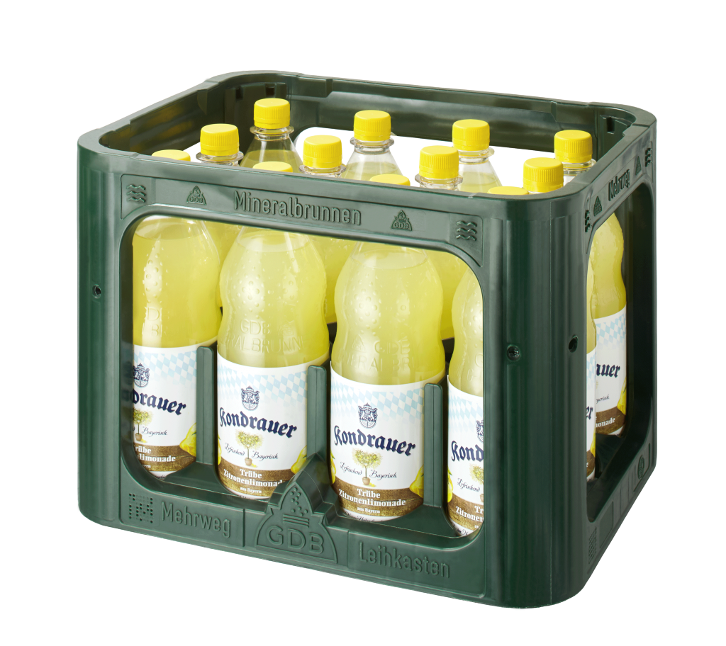 Kondrauer Trübe Zitronenlimonade 1,0 l PET (Kasten)