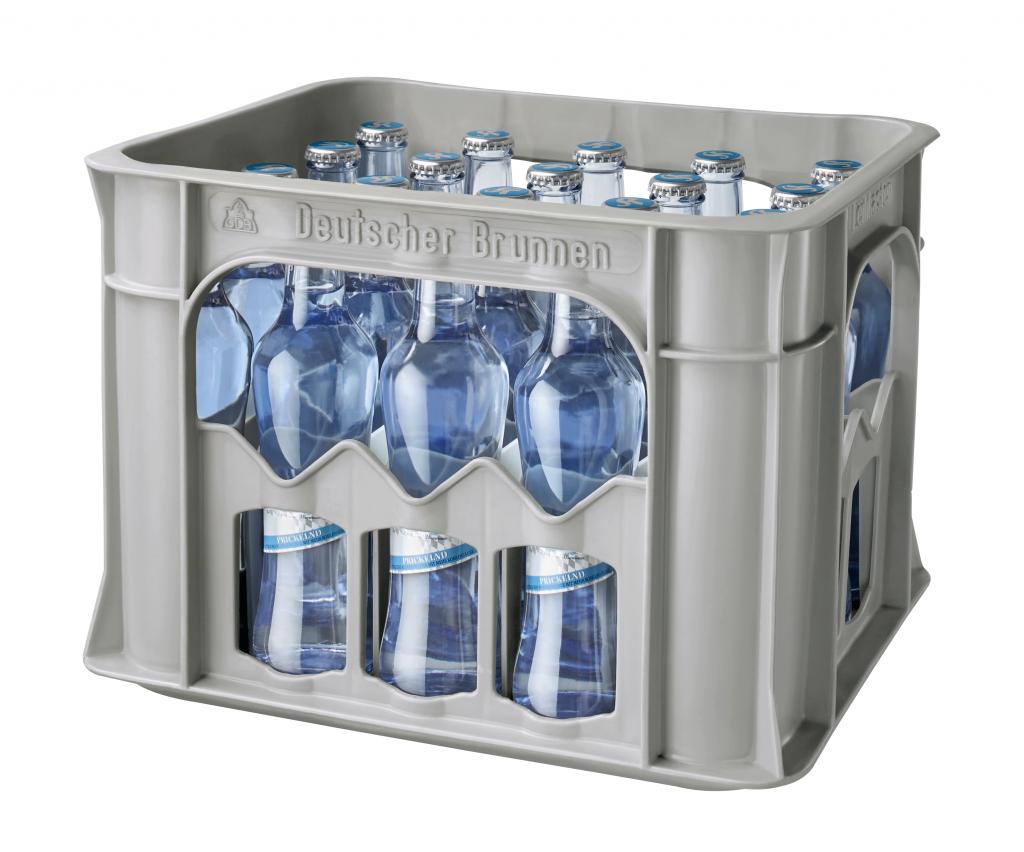 """Mineralwasser """"Prickelnd"""" 0,25 l Glas (Gastro-Kasten)"""
