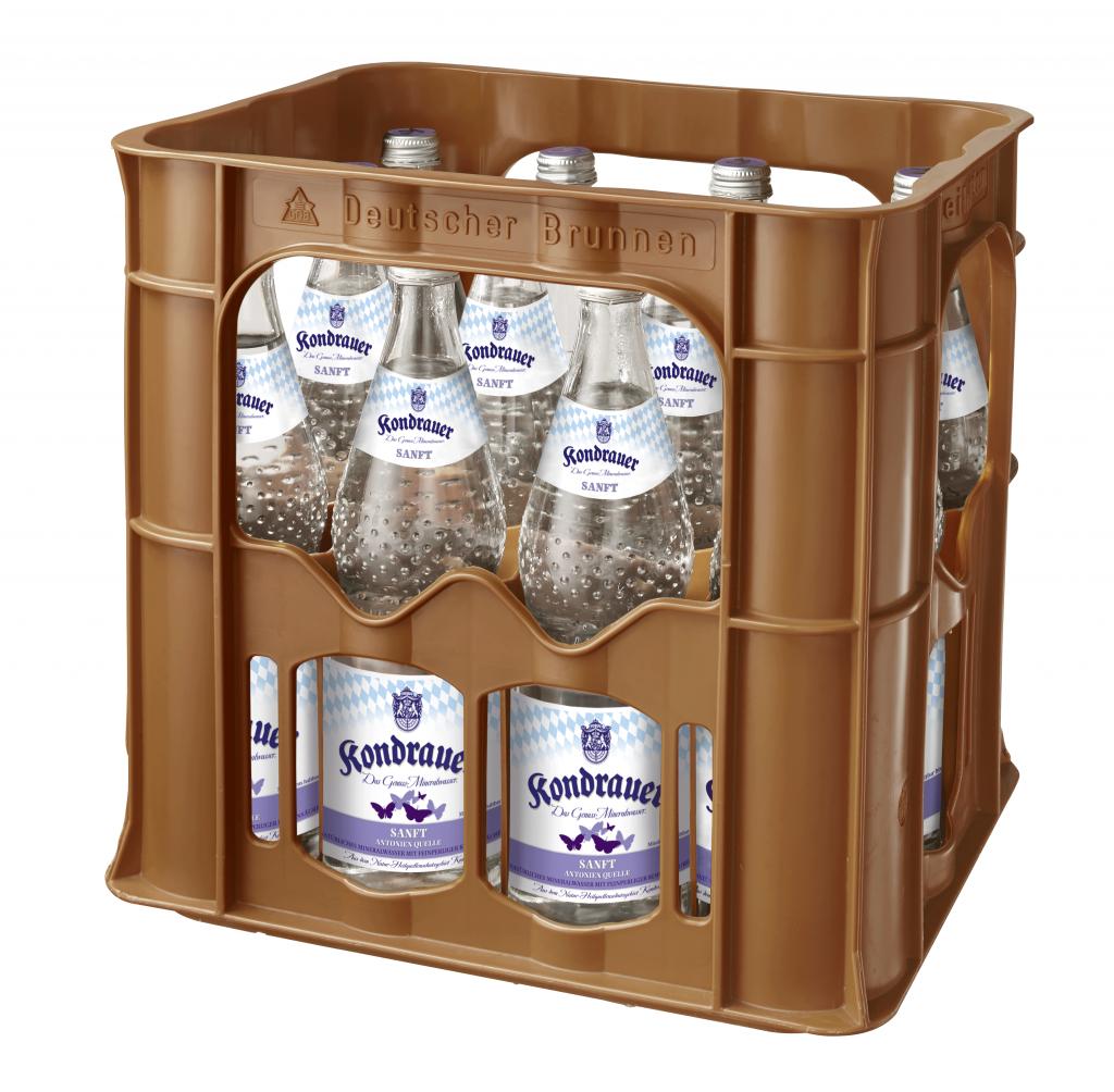 """Mineralwasser """"Sanft"""" 0,7 l Glas-Mehrwegflasche (Kasten)"""